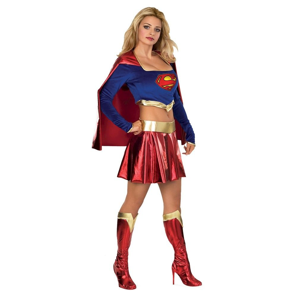 Rubies Costume Co Womens Dc Superheroes Supergirl Boot Tops