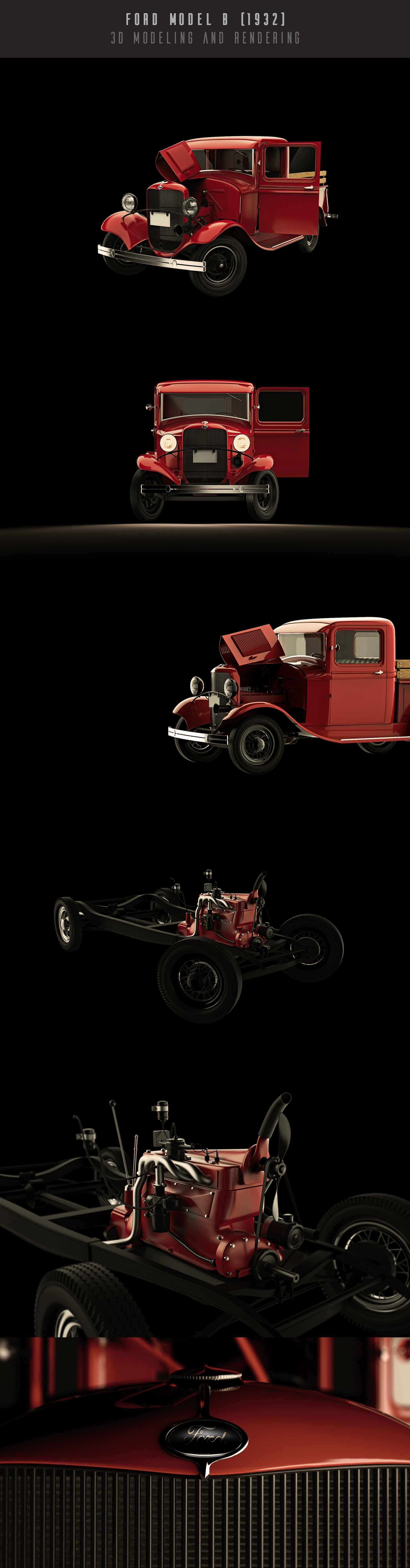 """Check out my @Behance project: """"1932 Ford Model B - 3D Modeling and ..."""