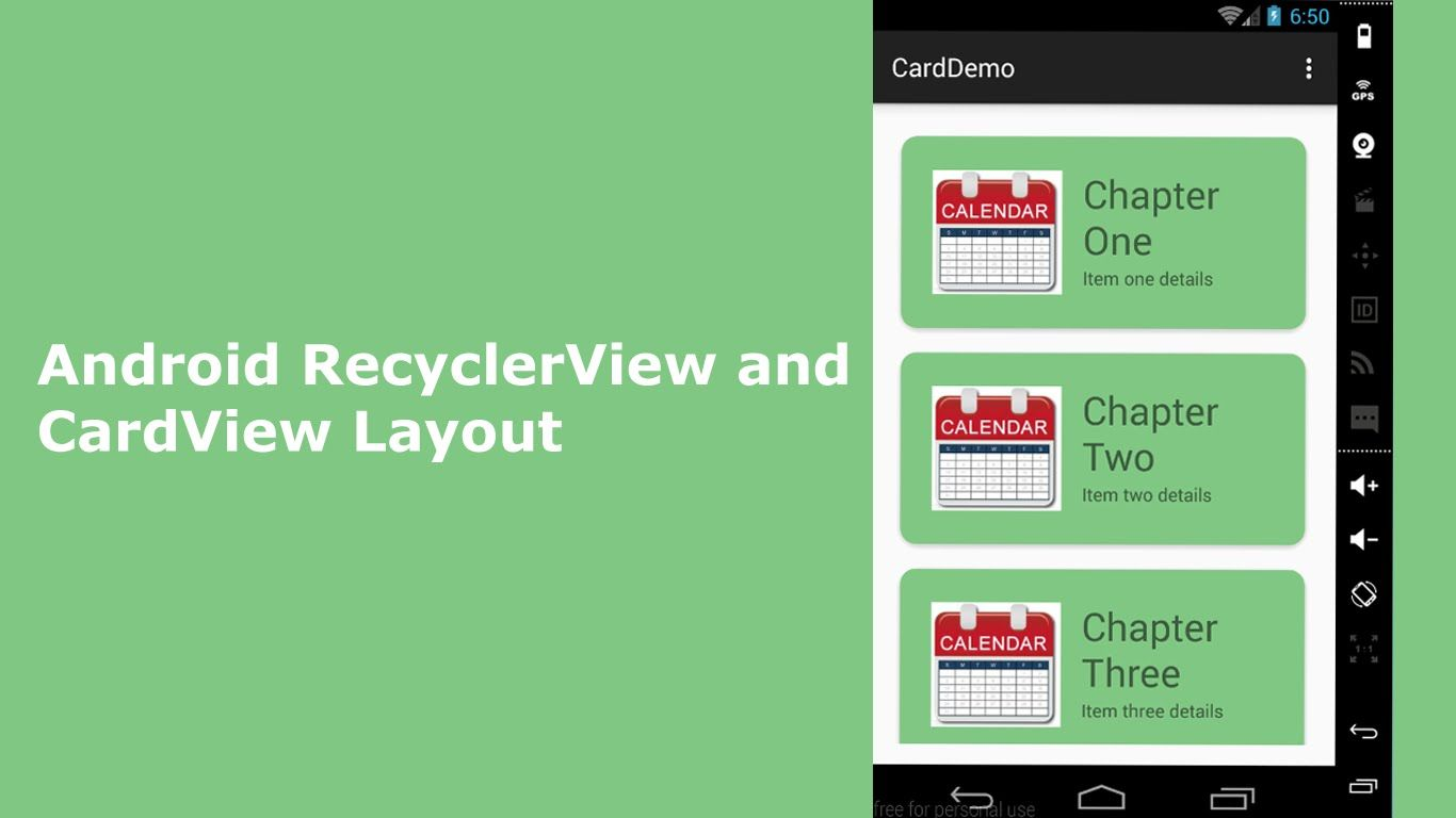 Android RecyclerView and CardView Layout | Delaroy Studios
