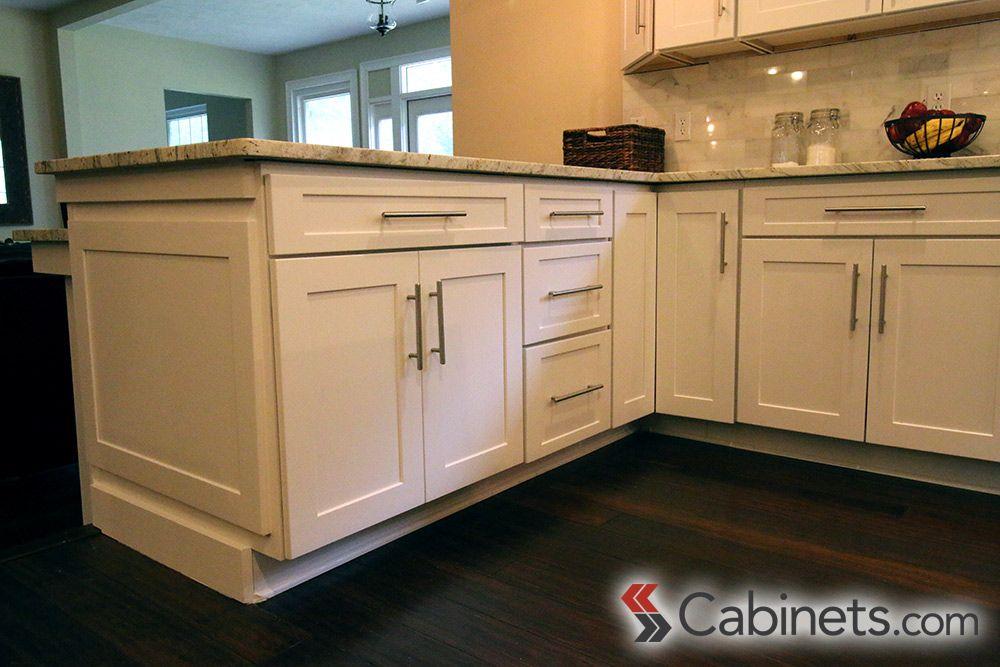 21++ White shaker cabinets wholesale custom