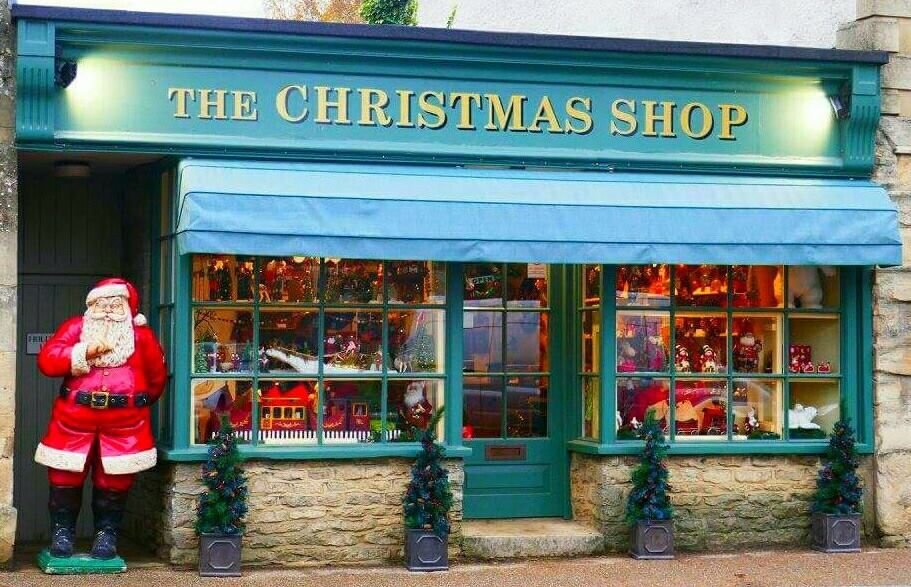 Freddie Pymer United Kingdom The Christmas Shop In Lechlade Gloucestershire It S Unique Featur With Images Christmas Shopping Uk Holidays Beautiful Winter Scenes