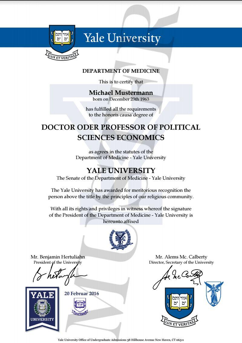 Groß Yale Diplom Rahmen Zeitgenössisch - Benutzerdefinierte ...
