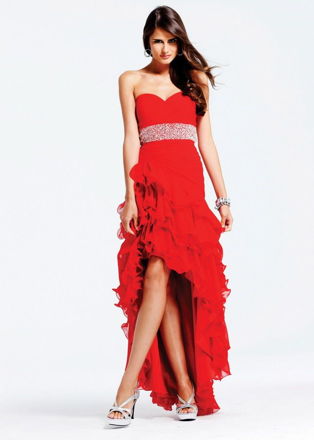 red high and low dress | Gommap Blog