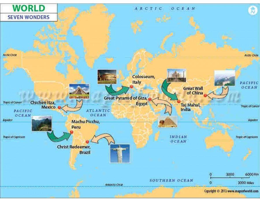 Buy seven wonders world map buy seven wonders world map online gumiabroncs Gallery