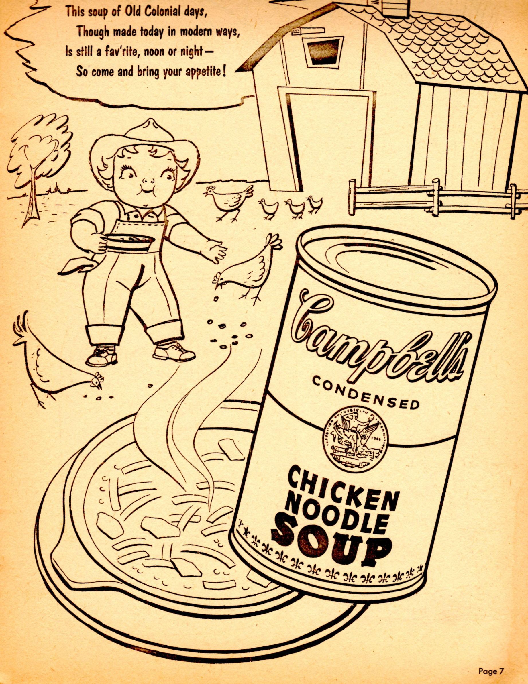 Campbells Soup Can Coloring Page
