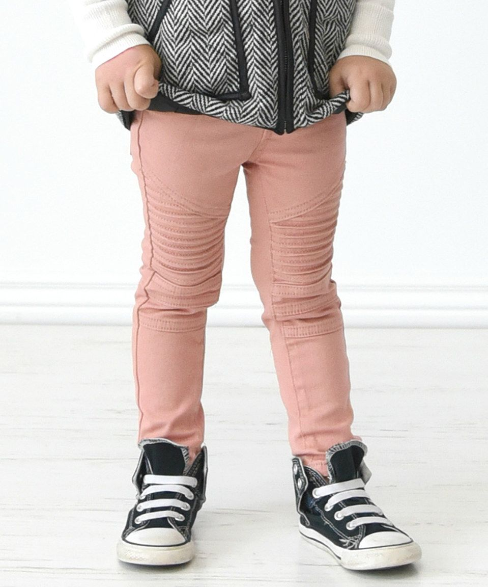 1ce6a7f92c582 Another great find on #zulily! Dusty Pink Moto Leggings - Infant, Toddler &  Girls by PeekABootSocks #zulilyfinds
