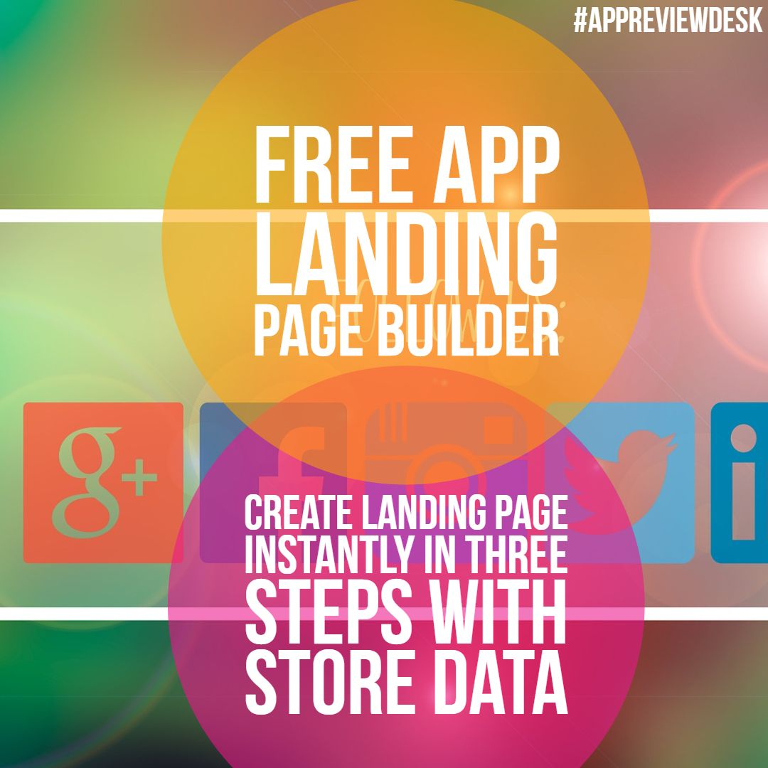 Free Instant Mobile App Landing Page Creator Visit and get