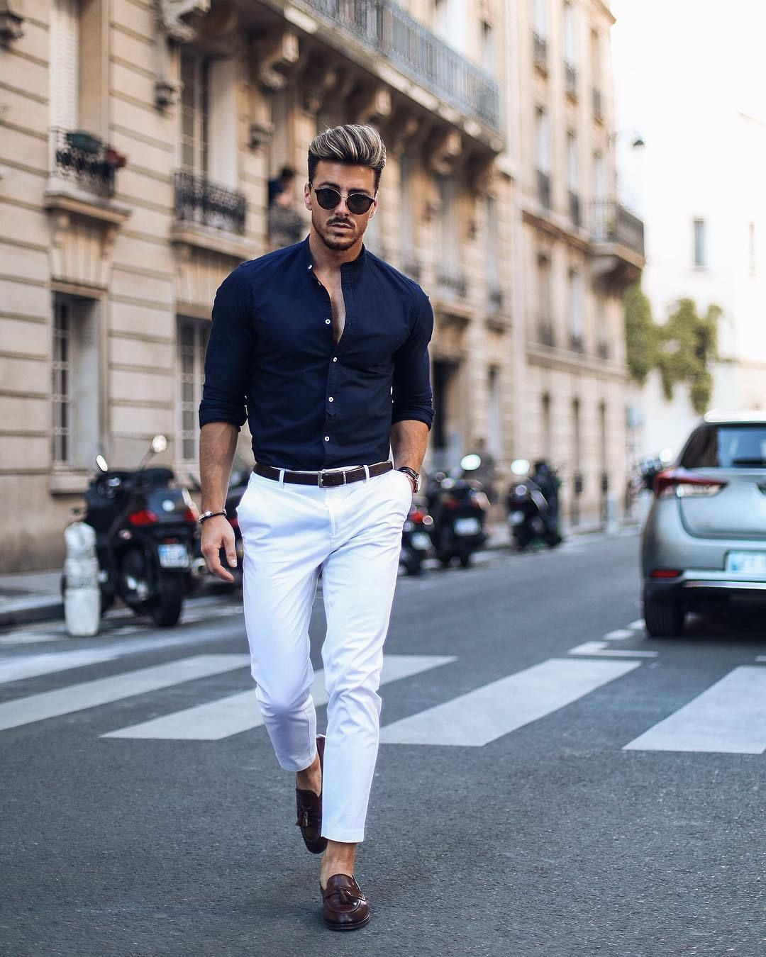 5 Simple shirt outfits for men. #shirt #outfits #