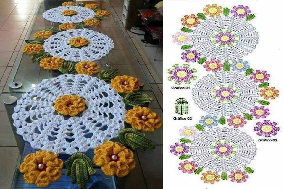 Free Crochet Table Runner Patterns 40 Knitting Crochet Dıy Inspiration Free Crochet Table Runner Patterns