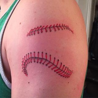 baseball stitching tattoo google search cool tats pinterest rh pinterest com baseball stitching tattoo designs Cool Baseball Tattoos