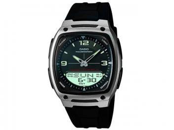 5c378cb9244 Relógio Masculino Casio Anadigi - Resistente à Água Cronômetro Mundial  AW-81-1A1VDF