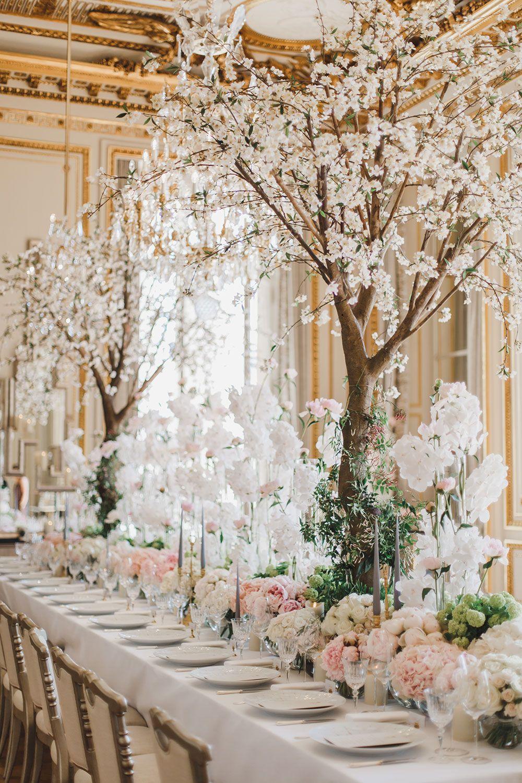 Dramatic Floral Fairytale In Paris Weddings Decorations Elegant Romantic Wedding Decor Elegant Wedding Table Decorations Diy