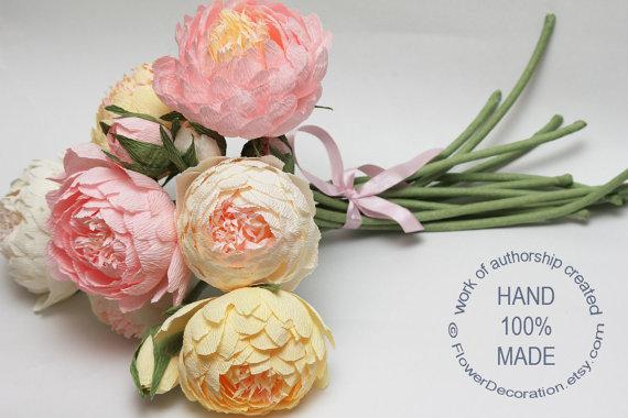 Bouquets, wedding bouquet, ivory bouquet, dark ivory bouquet, white bouquet, paper flowers, bride bouquet, bridal bouquet, wedding flower