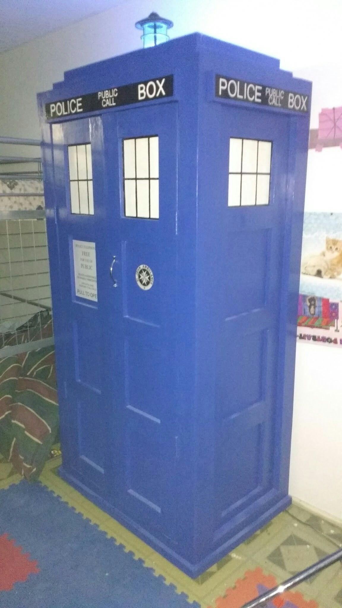 TARDIS armoire completed | TARDIS Armoire | Pinterest | Tardis