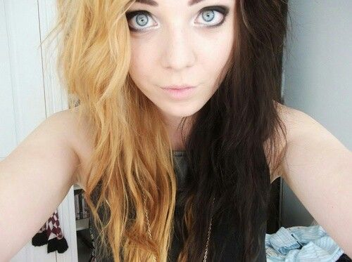 Half Blonde Half Brown Totally Wanting To Do This Hair Styles