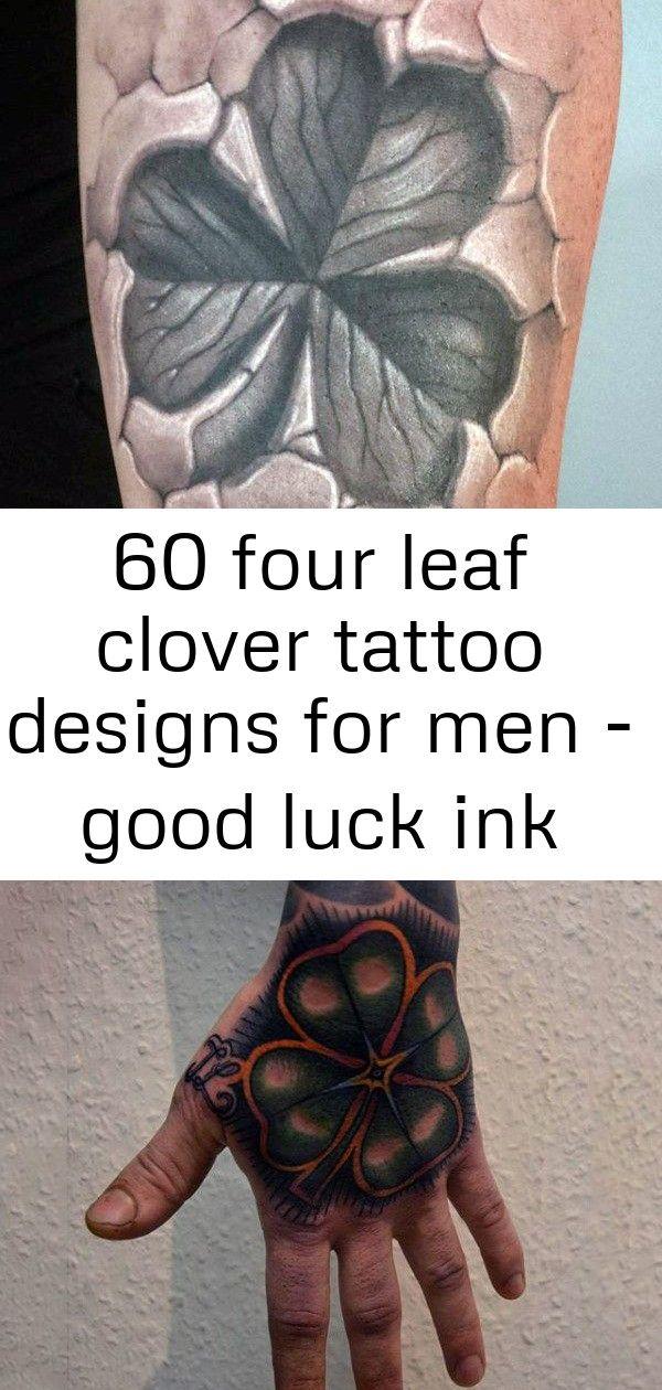 Photo of 60 conceptions de tatouage de trèfle à quatre feuilles pour hommes – bonne chance idées d'encre 13