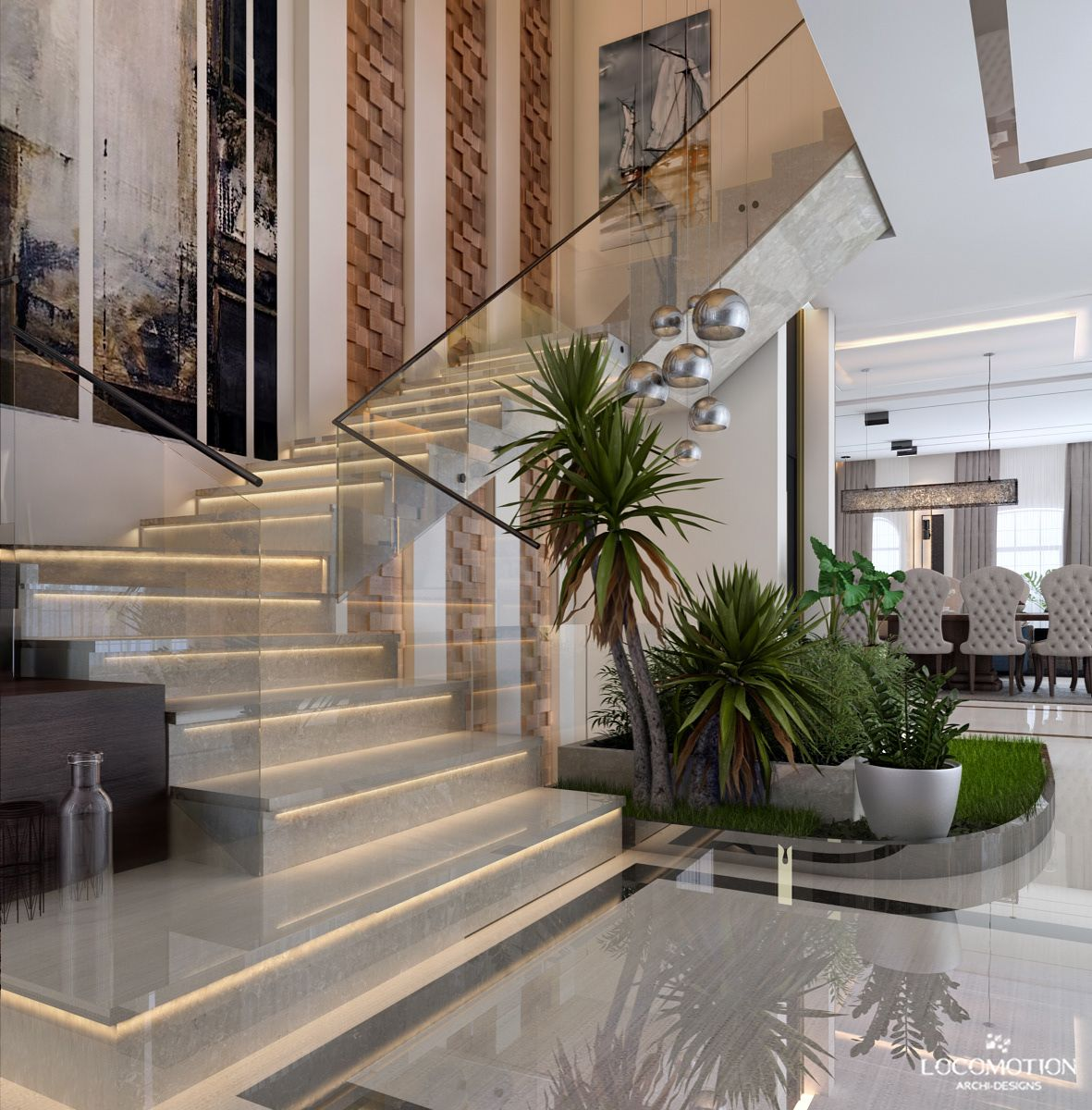 Villa Reception On Behance With Images Stairs Design House