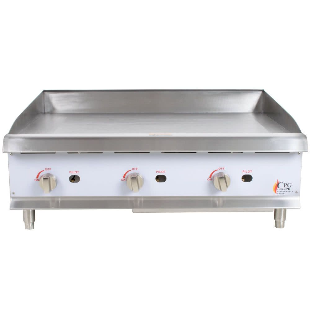 Cooking Performance Group G36 36 Gas Countertop Griddle With