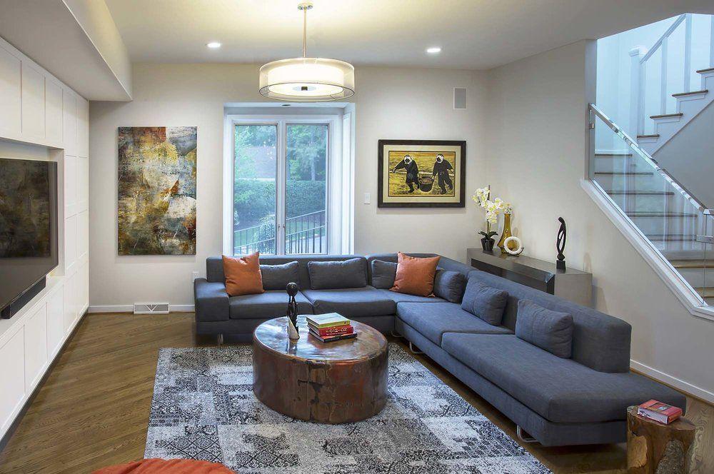 contemporary family room in richmondcircle design