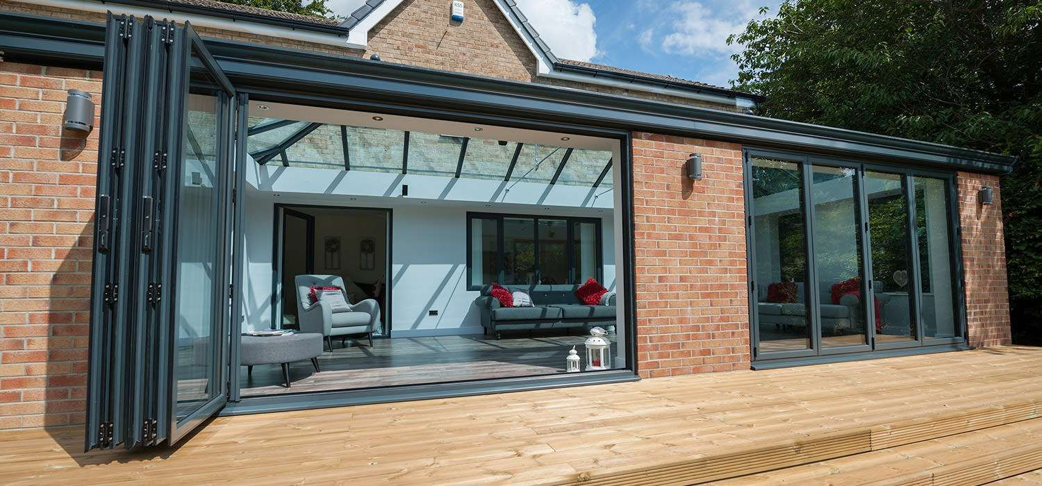 Grey Orangery Extension Google Search Bifold Doors