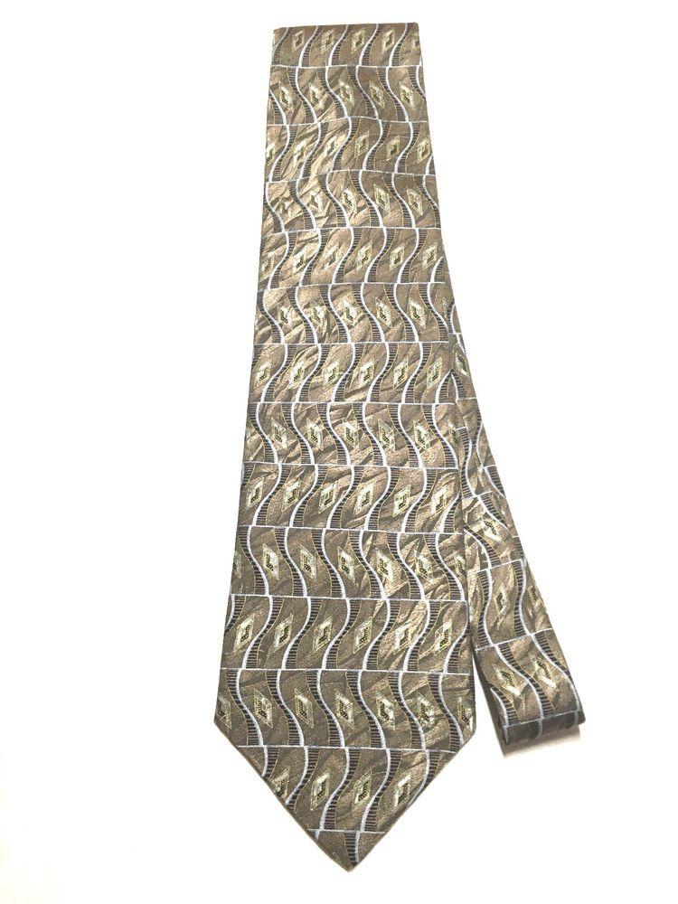 e5cad8d0b6a7 VILLA BUGATTI Men's Tie - 100% Silk   Light Brown Black   Abstract #fashion  #clothing #shoes #accessories #mensaccessories #ties (ebay link)