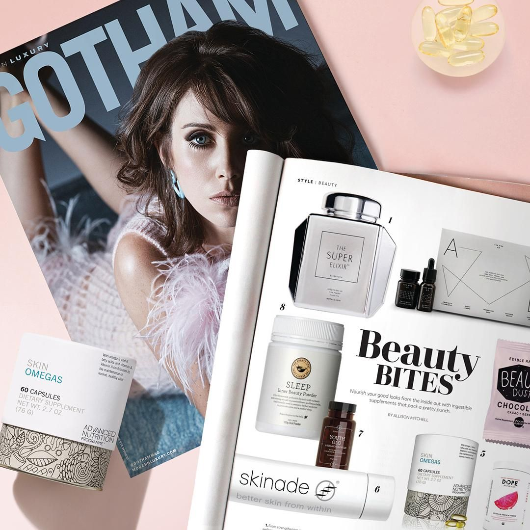 We made the cut! Thank you Gotham Magazine for picking our Skin Omegas supplements as a must try to nourish from the inside out.
