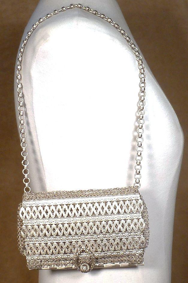 Byzantine Metal & Mesh Purse | Artist Made Metal Handbag | Sarah Cavender Metalworks