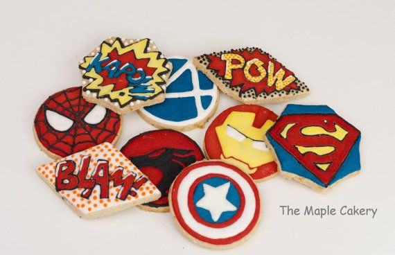 c9600a30c Superhero biscuits ships to UK | Marcus Birthday Ideas | Superhero ...