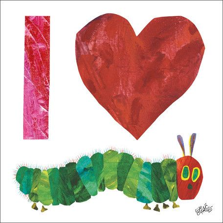 Eric Carle's I Heart VHC Canvas Art