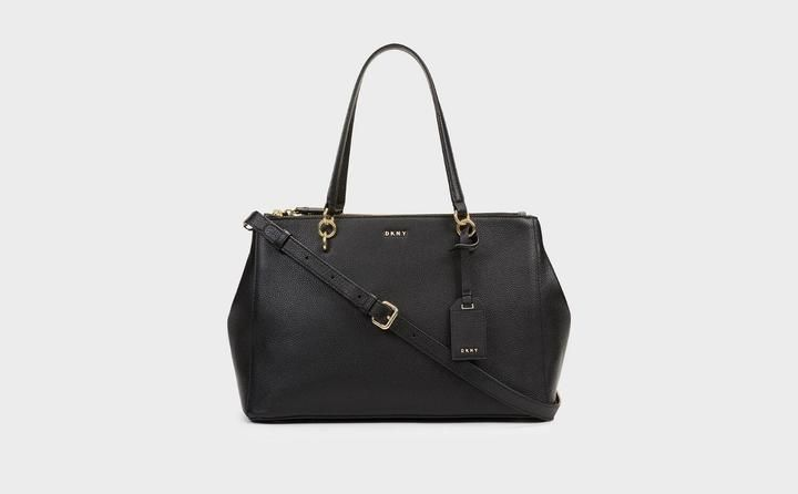 d081f5a9e3 DKNY Chelsea Pebbled Leather Large Shopper