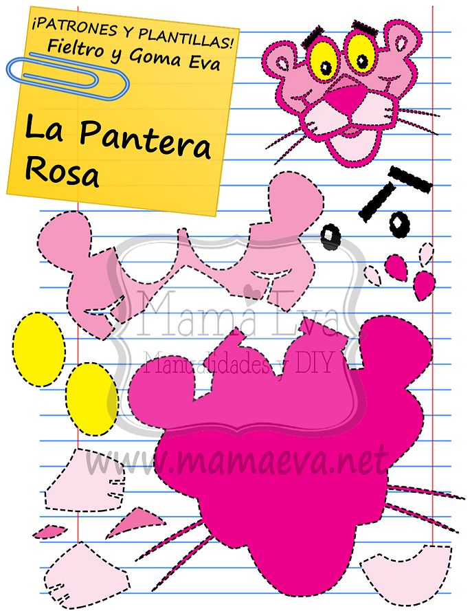 La pantera rosa!!!! No os digo más.... Mamá Eva Manualidades y DIY ...