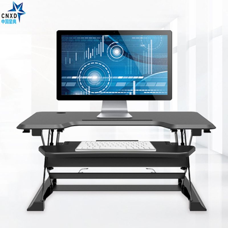 this computer stand can go up or down so you can stand up and use it or sit down and use it and. Black Bedroom Furniture Sets. Home Design Ideas