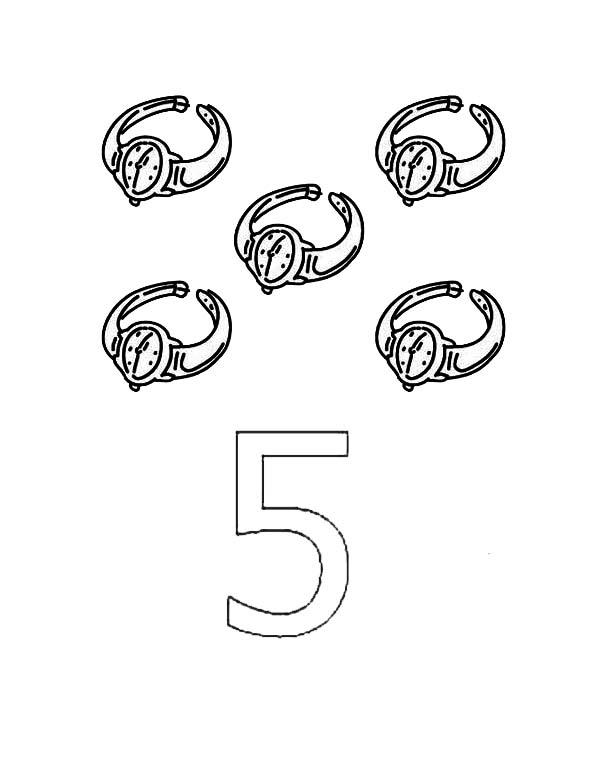 Pin On Preschool Numbers 5