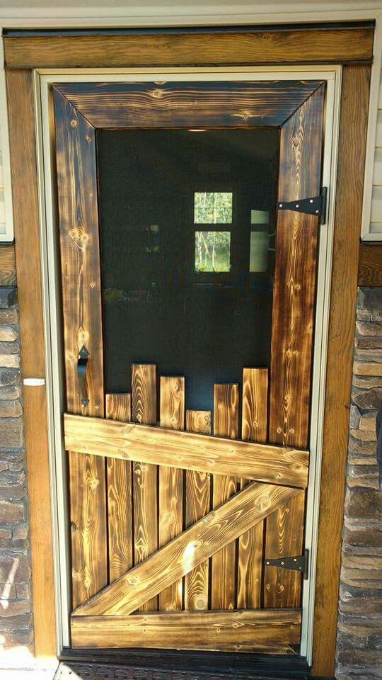 Unique Rustic Door Irregular Offcuts Of Narrow Boards Are Staggered To Create A One Kind Solid At The Bottom Withstand Heavy Abuse By Pets