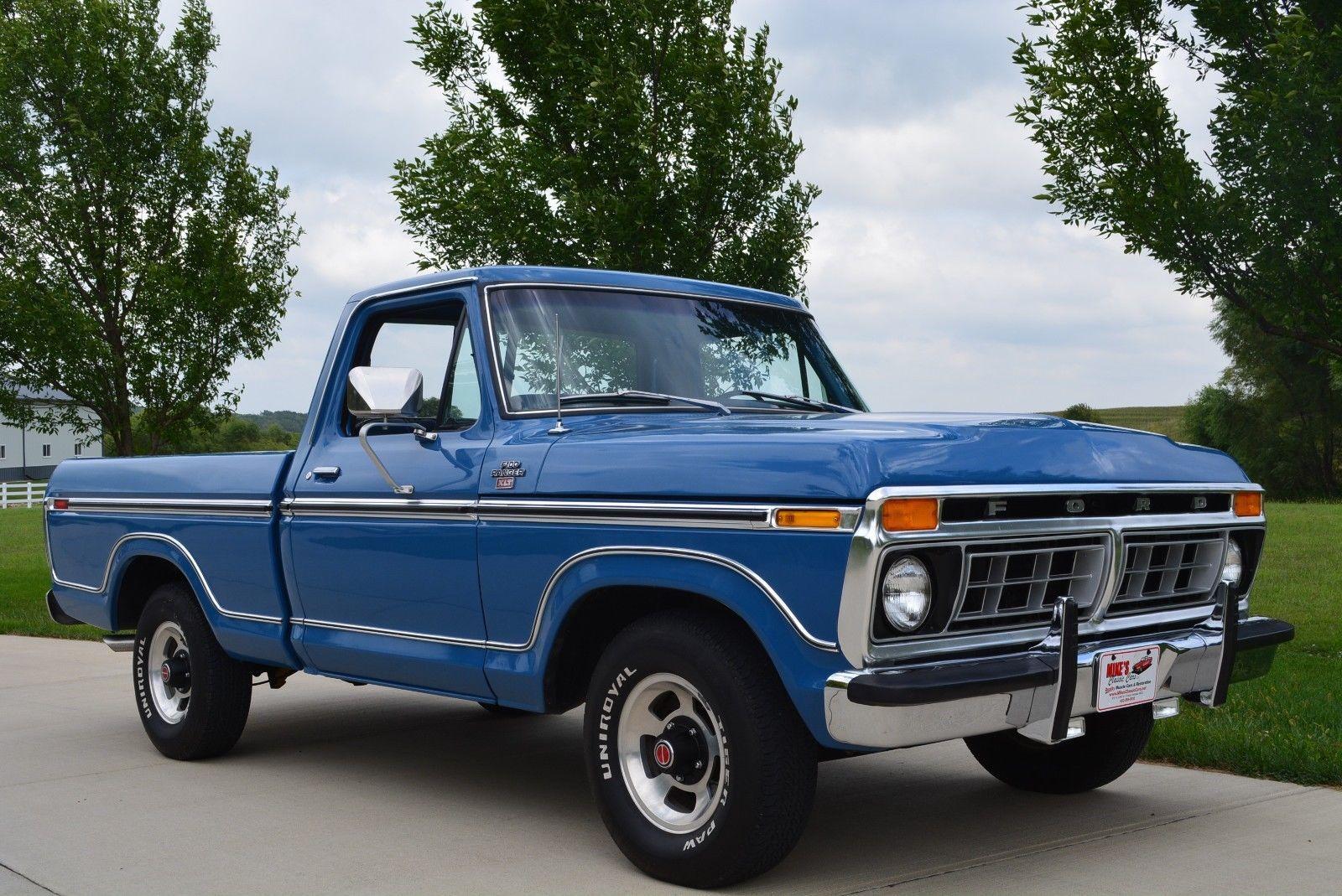 Nice Amazing 1977 Ford F 100 Ranger 1977 Ford F100 Ranger Short Bed Pickup 351 V8 Auto 2017 2018 Ford Trucks Monster Trucks Ford