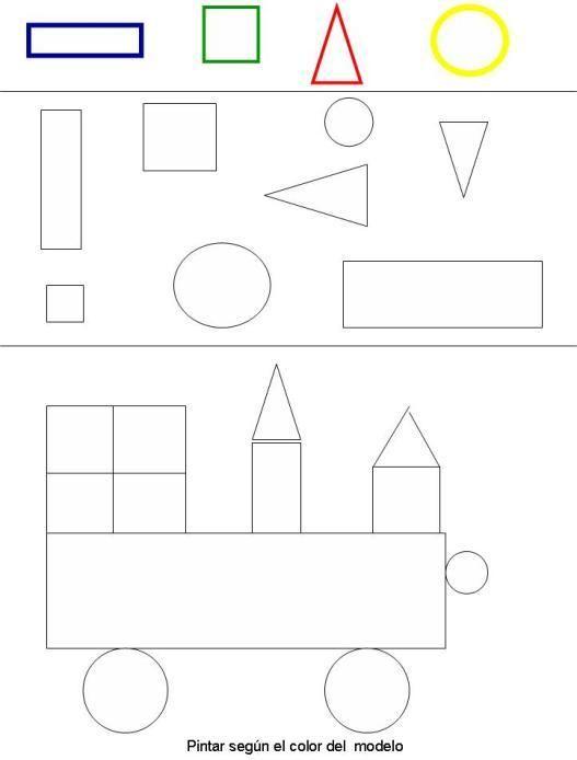 Dibujos Con Figuras Geometricas  FIGURAS GEOMETRICAS 08  espanol