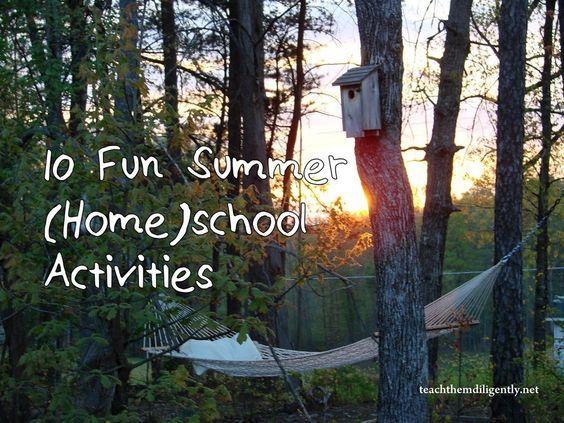 summer homeschool activities @mylearningtable.com
