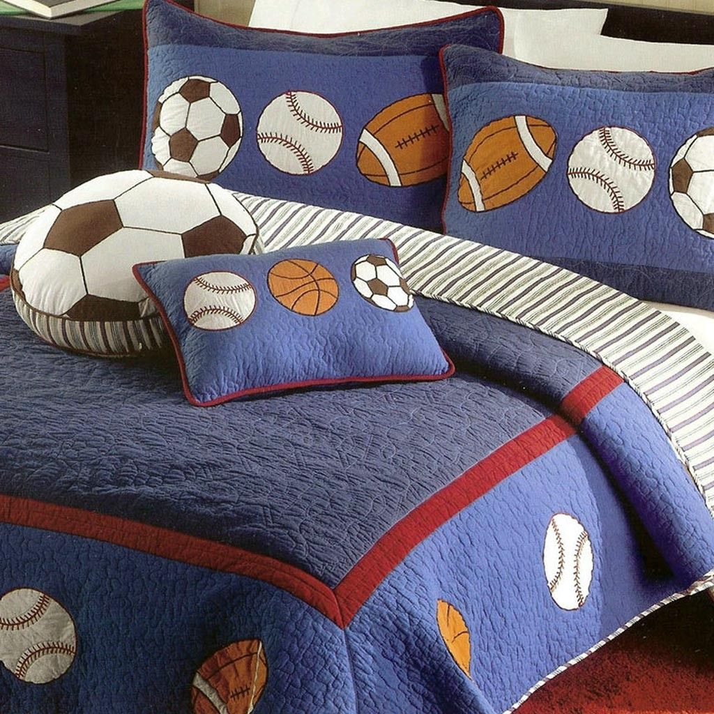 boys sports Bedding Full Size | boys sports quilt | Boys ...