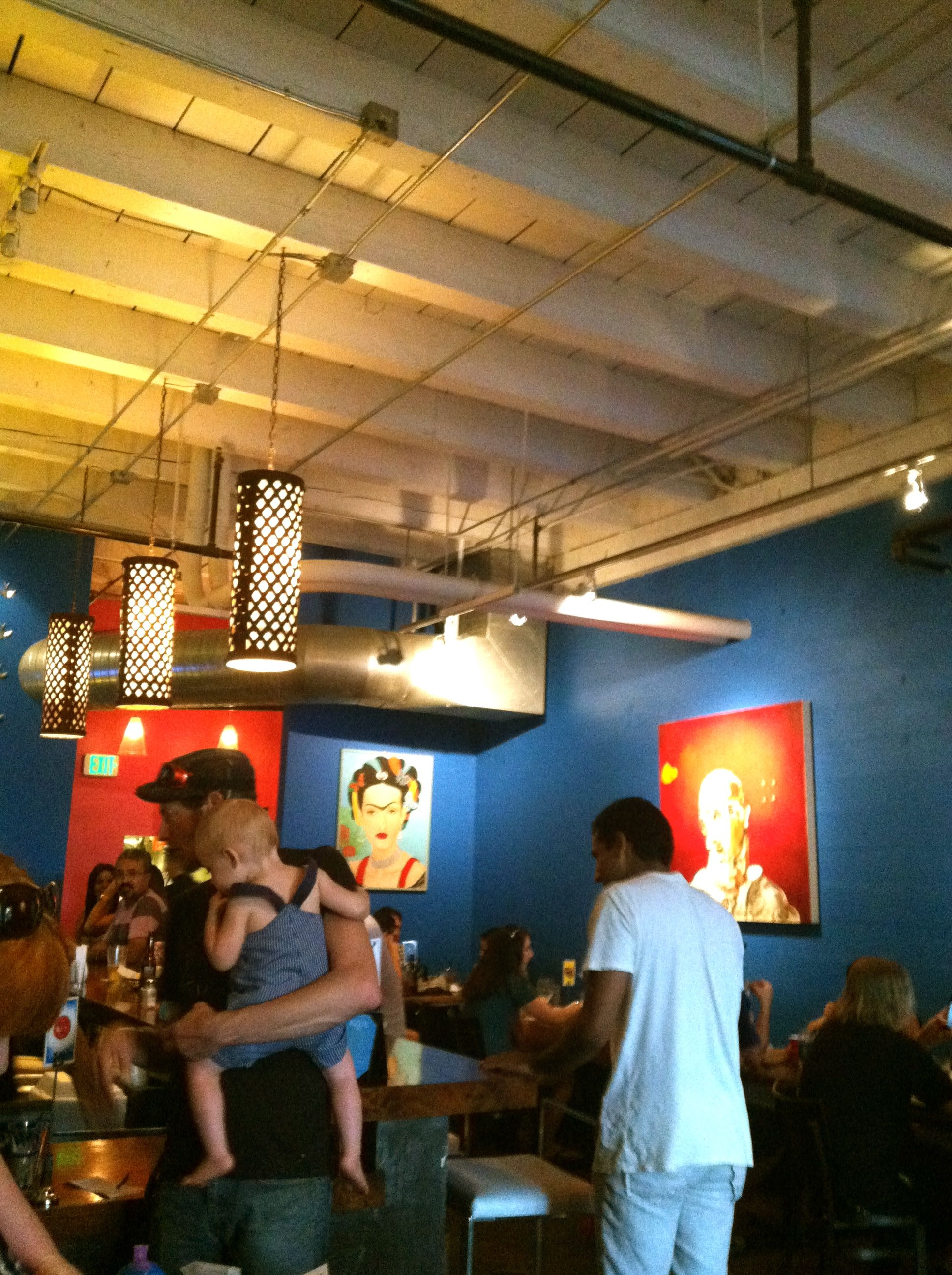 Azul mexican food tequila bar decorated with art and