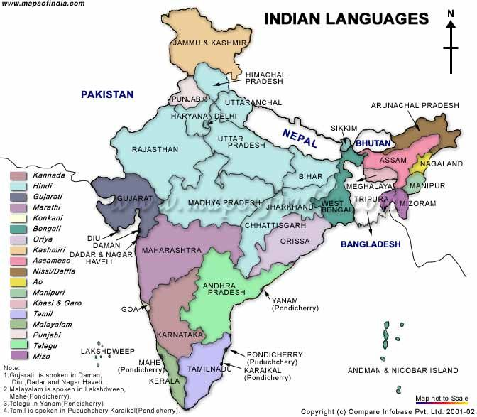 Languages In India HINDUSTHAN Sanathana Dharma BHARAT - World map marathi language