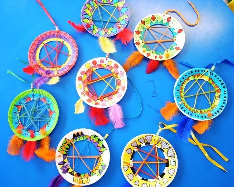 Idees Bricolage Enfant Comment Fabriquer Un Attrape Reve Original Art Artisanat Idee Bricolage Enfant Et Artisanat Americain
