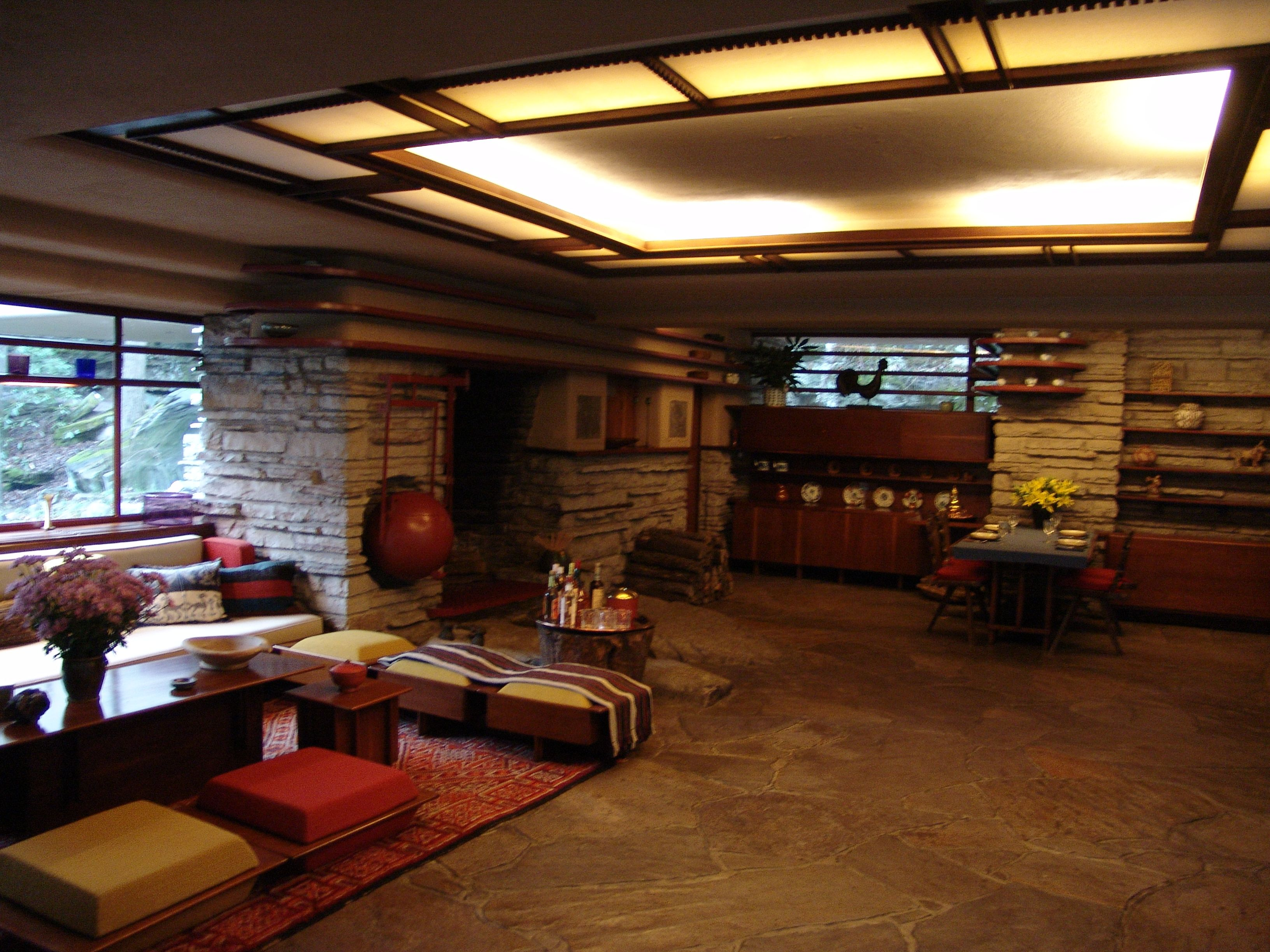 Stockman house interior frank lloyd wright - Architecture organique frank lloyd wright ...