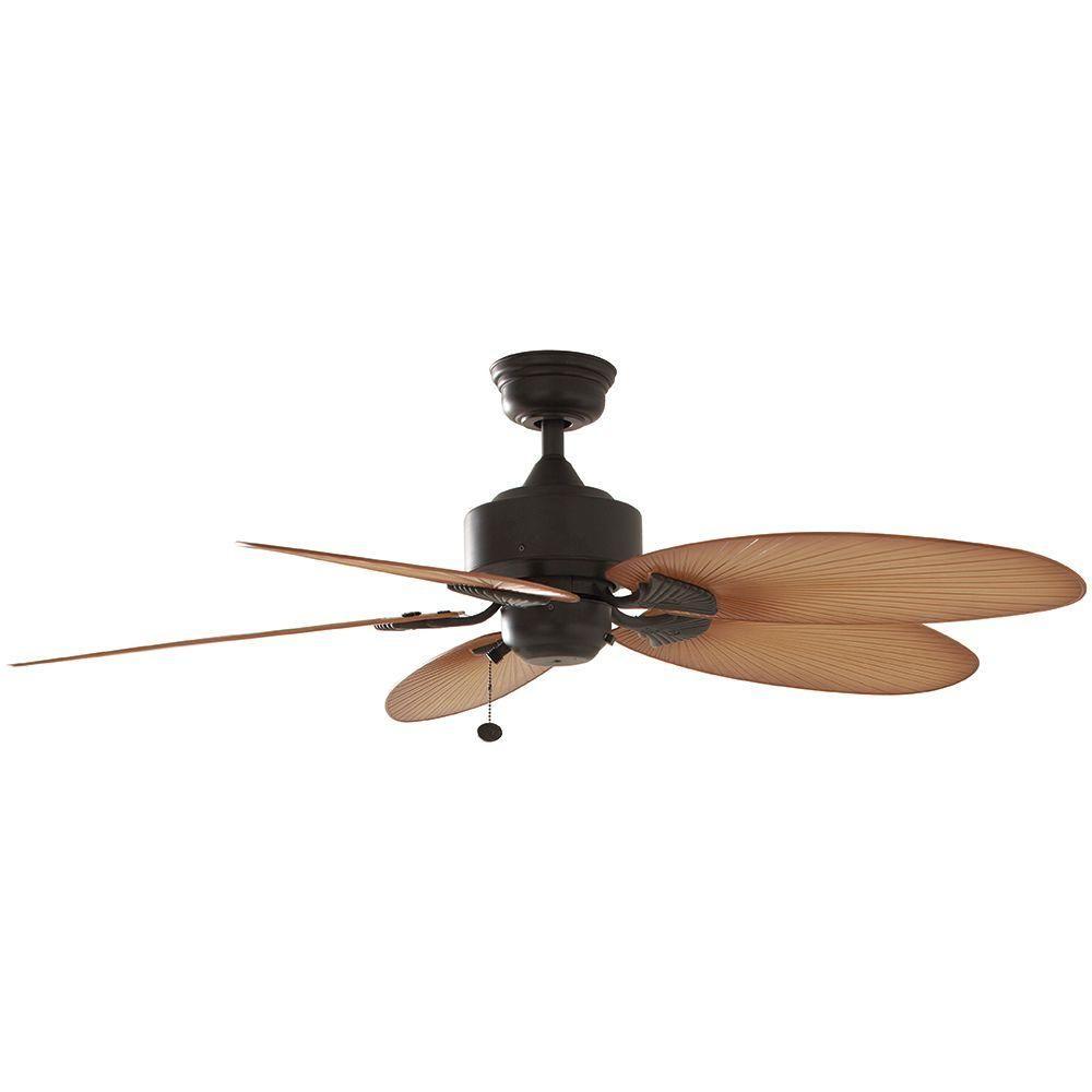 Hampton bay lillycrest 52 in indooroutdoor aged bronze ceiling fan indooroutdoor aged bronze ceiling fan 32711 aloadofball Gallery