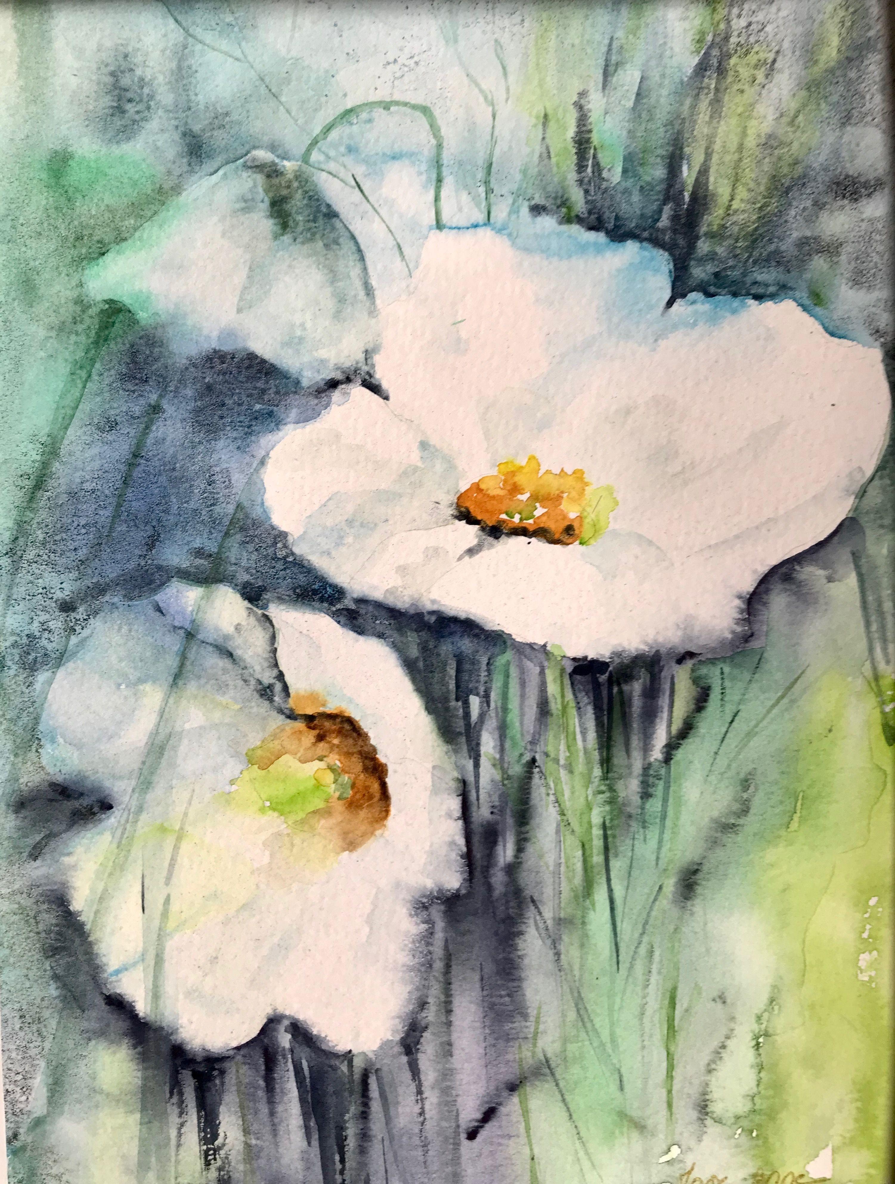 Bloemen Blumen Malen Aquarell Blumen Wasserfarben Kunst