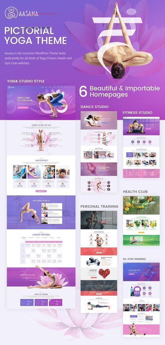 Aasana - Health and Yoga WordPress Theme Health and Yoga WordPress Theme. A clean, unique, and flexi...