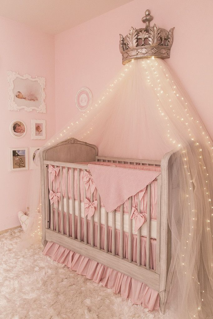 Scrumptious Pink Princess Baby Nursery Love The Little Led Lights In Netting