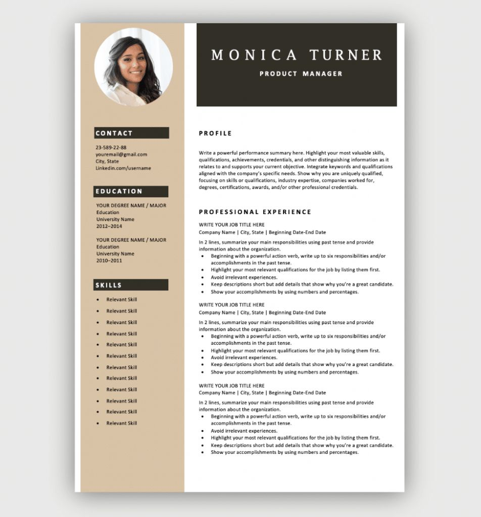 The Most Professional Resume Format 2021 Resume Template Free Free Resume Format Downloadable Resume Template