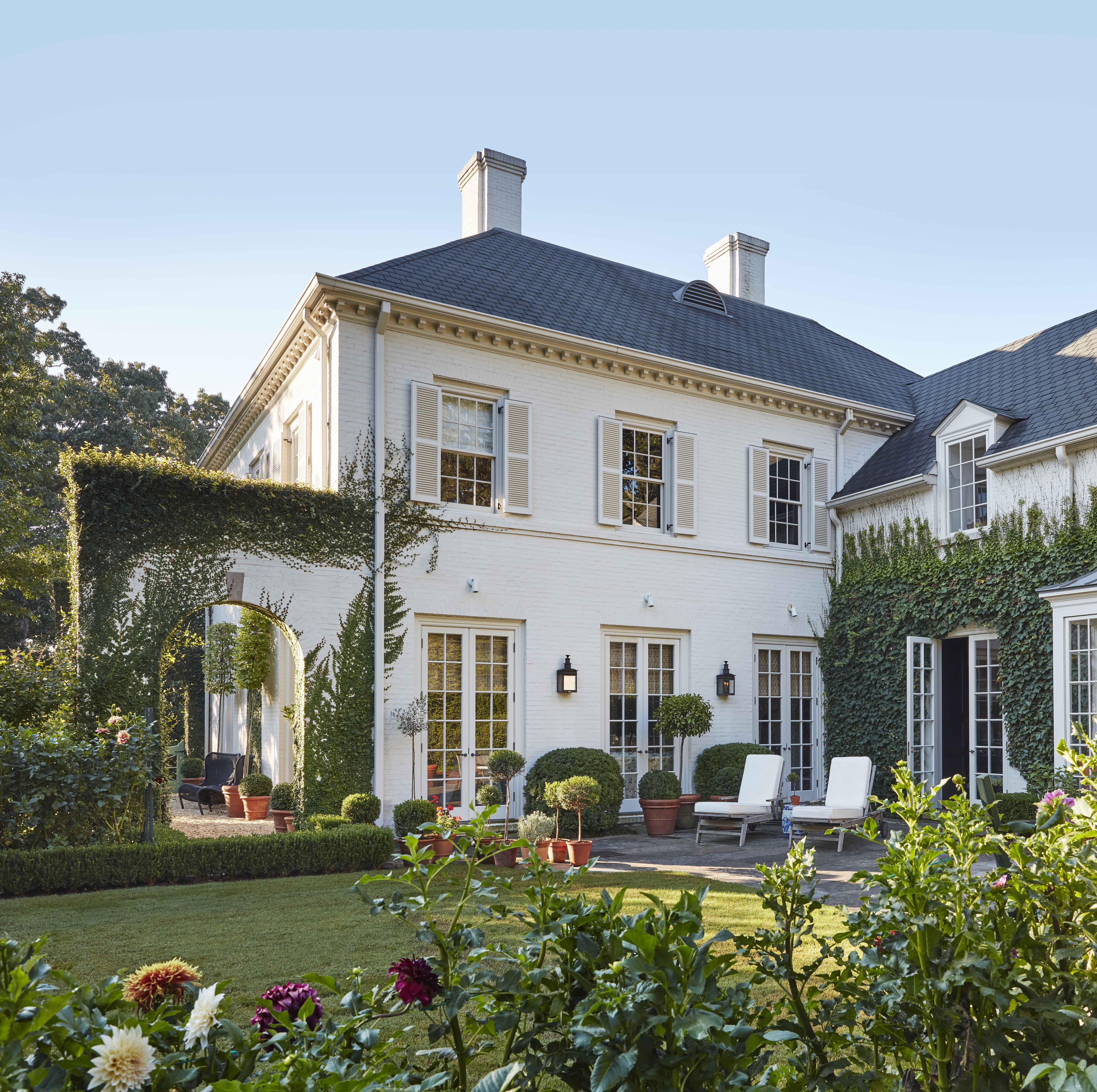 Classical Architecture and Vivacious Patterns Mix Artfully in Designer Caroline Gidiere's Home
