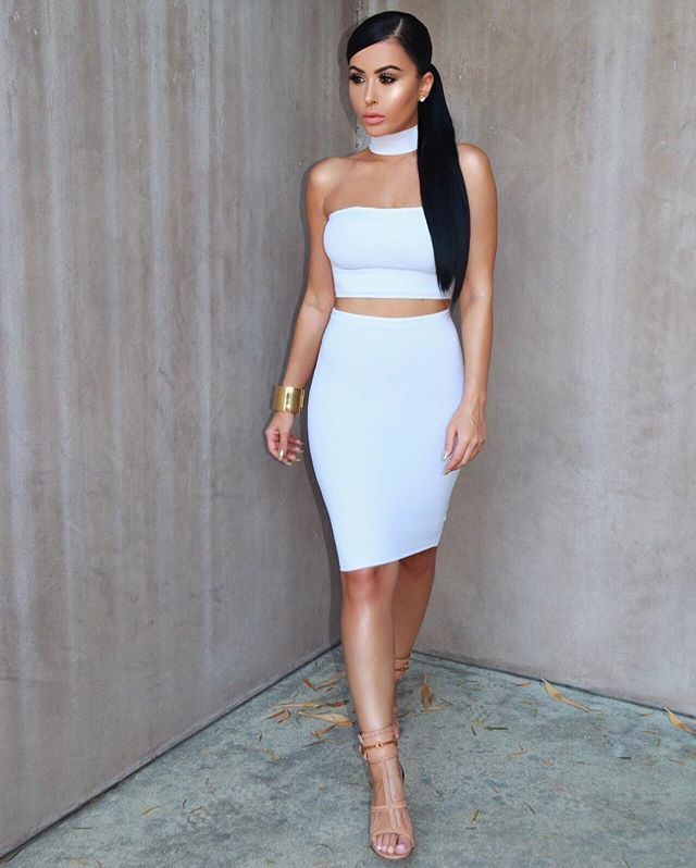 Come thru in that white  Dress @hotmiamistyles  Shoes @gucci