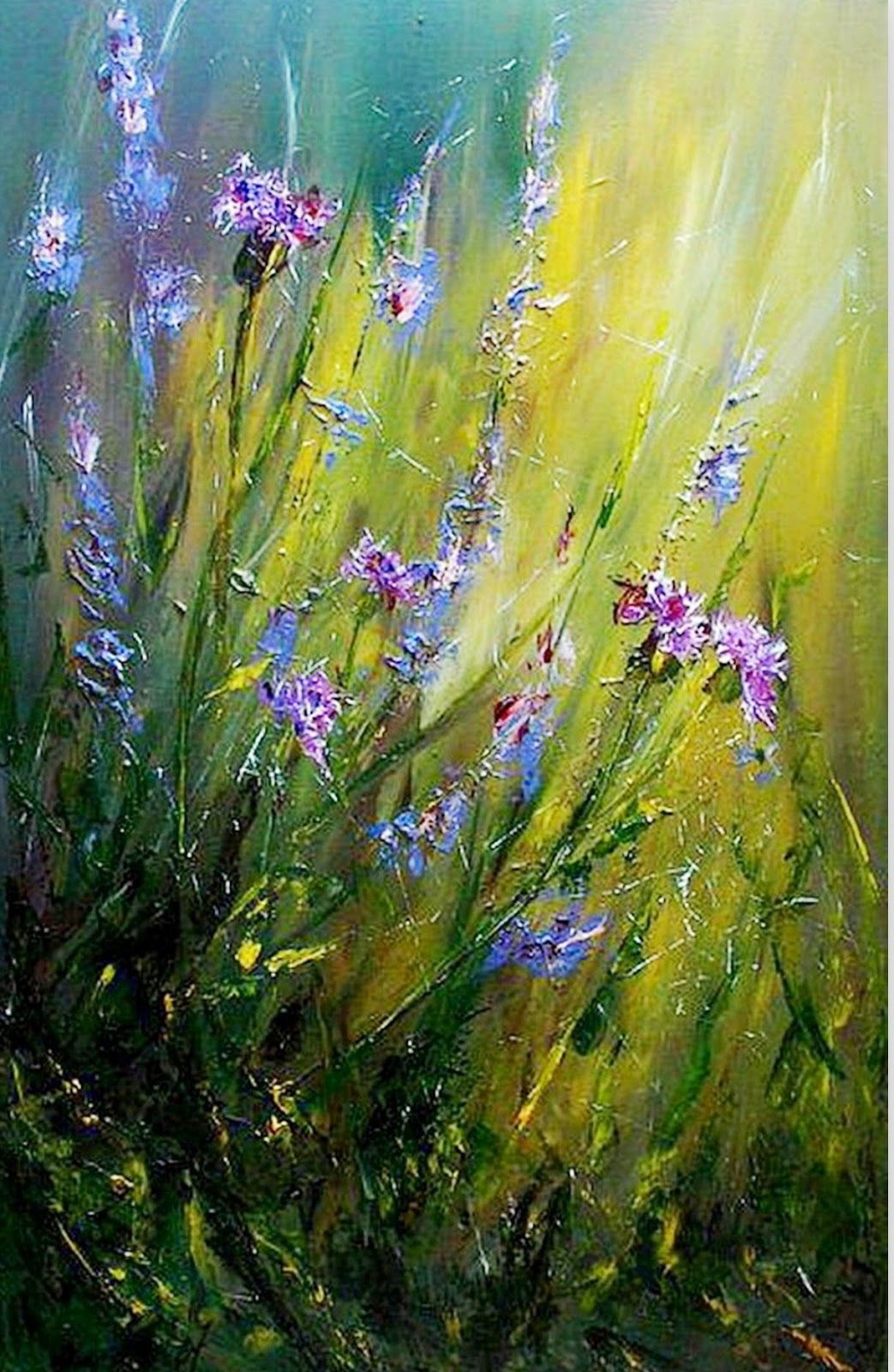 Pintura moderna al oleo flores pinturas en 2019 - Cuadros flores modernas ...